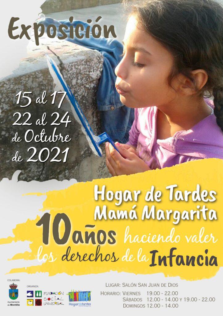 Cartel exposición Hogar de Tardes Mamá Margarita